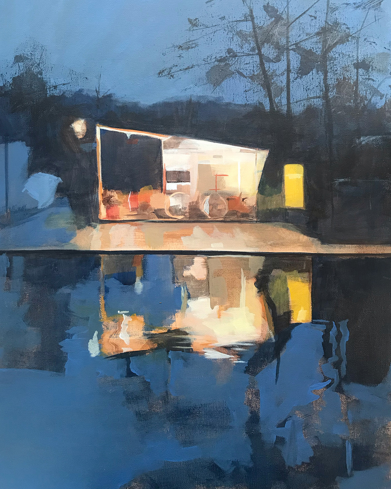Canal Workshop | 50 x 40cm |  Acrylic on Canvas